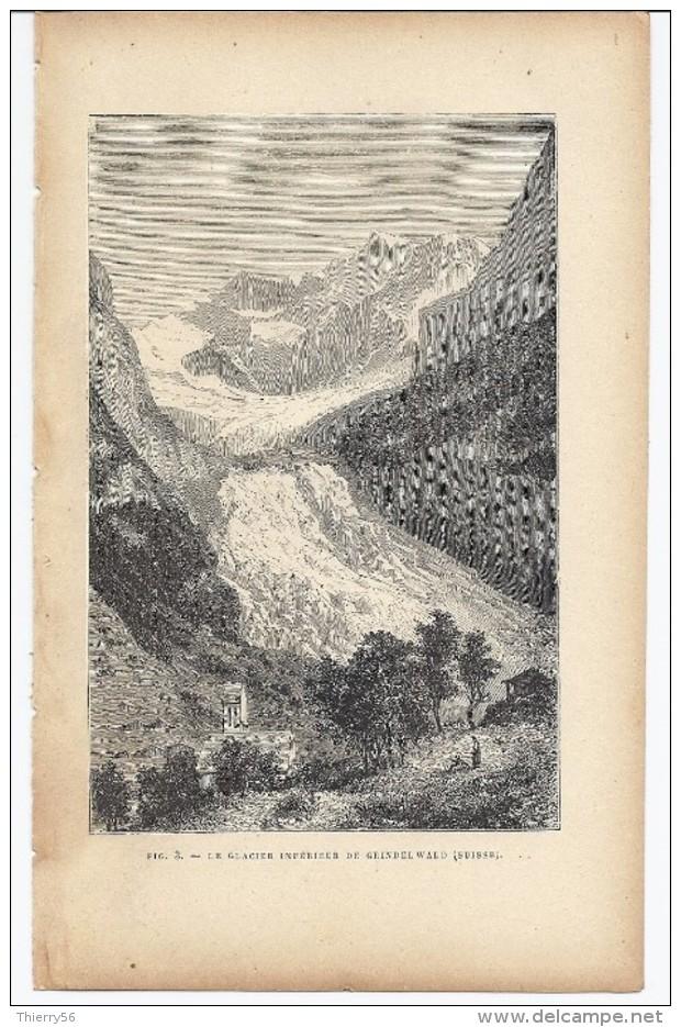 Le Glacier Inférieur De Grindelwald (Suisse) 1892 - Prints & Engravings