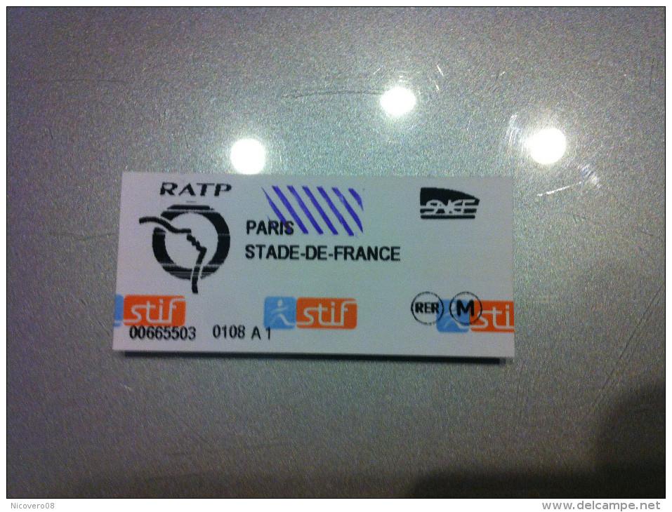 Ticket De Métro Paris - Subway