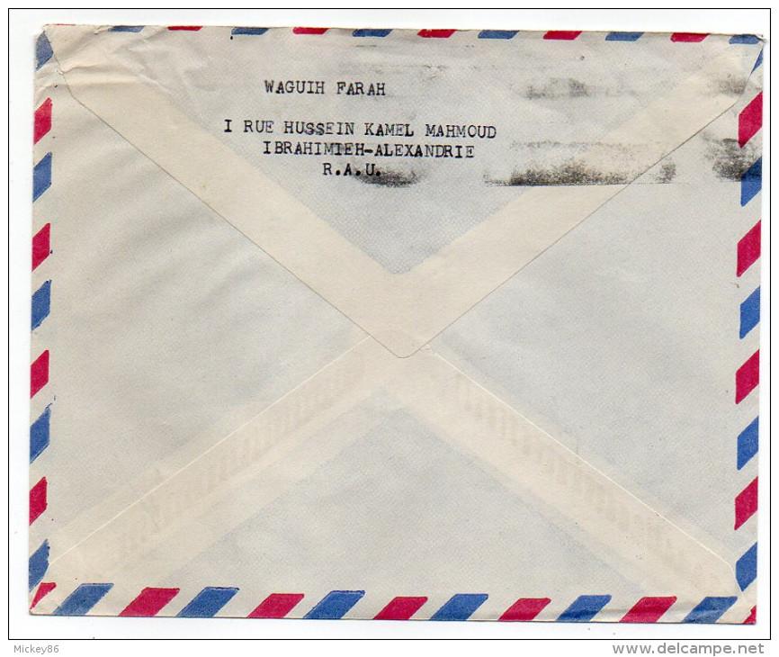 Egypte--Lettre De ALEXANDRIE Pour BRUXELLES (Belgique)--timbre Seul Sur Lettre- - Poste Aérienne