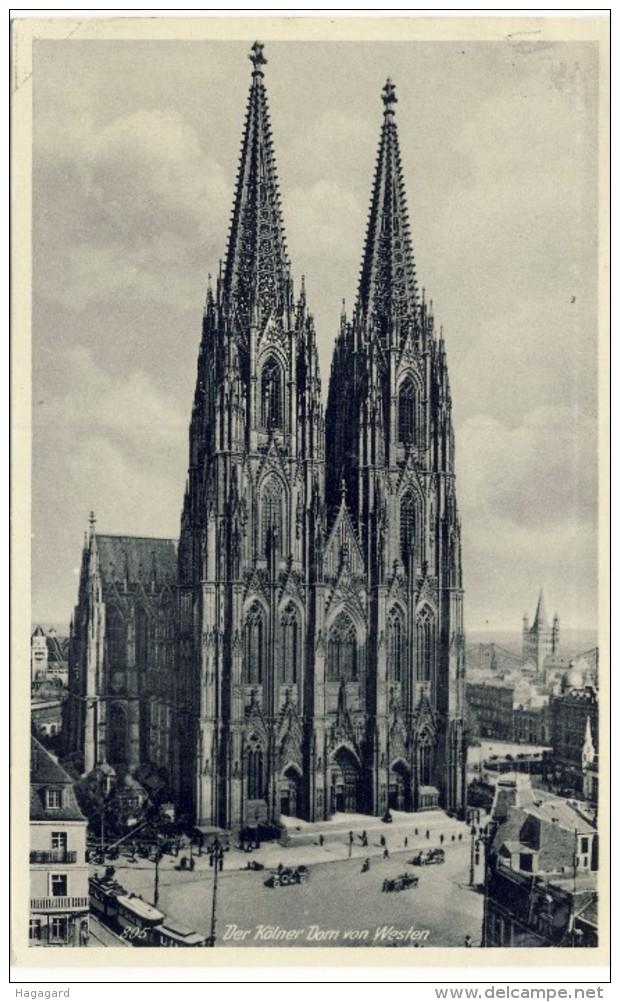 #F894. Germany 1935-40. Der Kölner Dom Von Westen. Cathedral Of Köln. - Allemagne