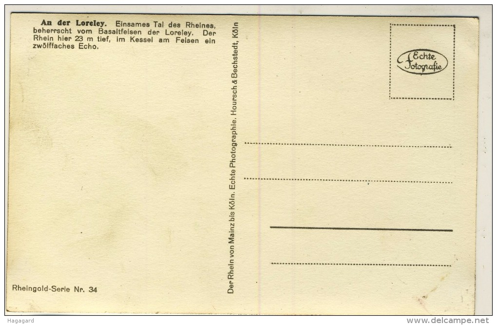 #F899. Germany 1935-40. Rheingoldserie Nr. 34. An Der Loreley. - Non Classés