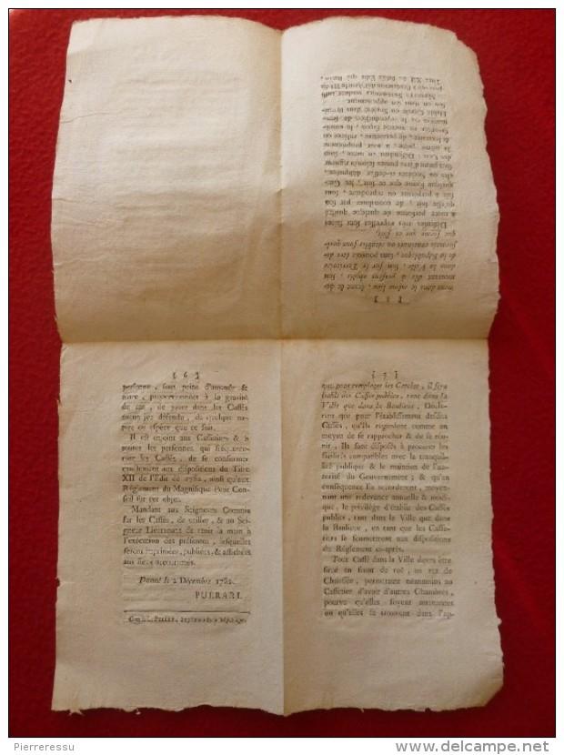EDIT DE 1782 LES CERCLES OU SOCIÉTÉS D HOMMES LOI SUR LES CAFÉS - Documents Historiques