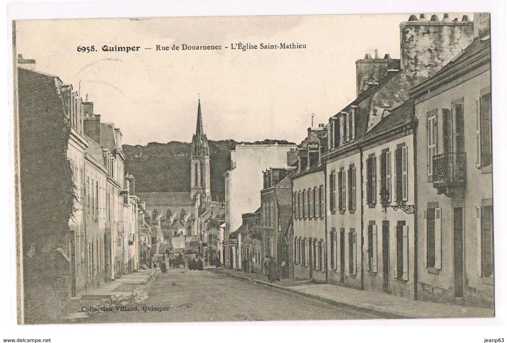 6958.  QUIMPER - Rue De Douarnenez - L'Eglise Saint-Mathieu - Quimper