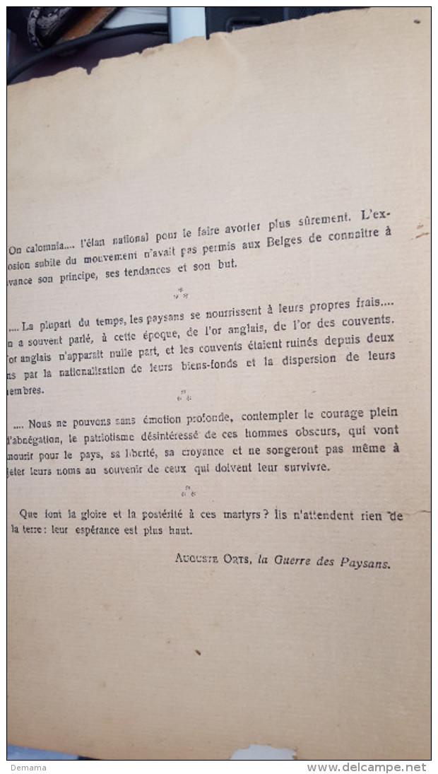 Onze Boeren, Tooneelen Uit Den Boerenoorlog Van 1798 Door Dr August Snieders,1913 - Antiguos