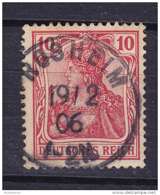 Germany Deutsches Reich 1902 Mi. 71 Germania Deluxe ROSSHEIM !! - Blocks & Kleinbögen