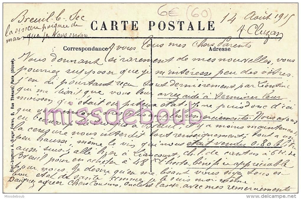 60 - LIANCOURT RANTIGNY - La Gare - 1911  - Attelage Diligence -  2 Scans - Liancourt