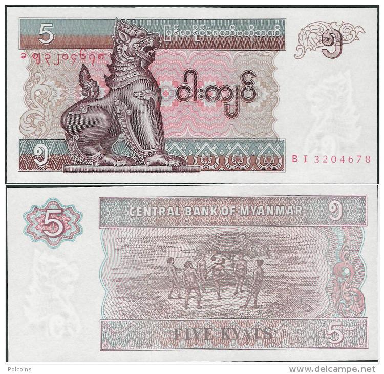 Myanmar 1996 - 5 Kyat - Pick 70 UNC - Myanmar