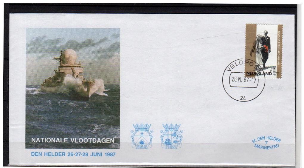 Veldpost Field Post Office # 24 Den Helder 1987 (at37) - 1980-... (Beatrix)