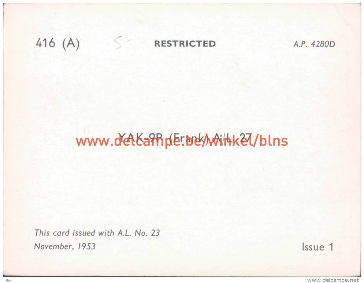 1953 YAK-9P (Frank) A/L27 - Aviation