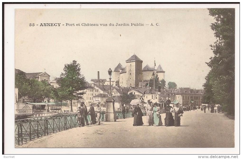 Annecy : Port Et Chateau Vus Du Jardin Public - Annecy