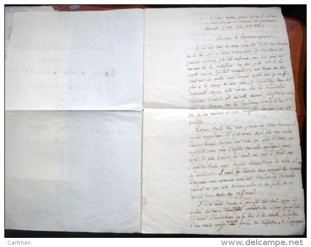 PRISON POUR FEMME LA MADELEINE  DEMANDE D'ELARGISSEMENT D'UNE FILLE ENFERMEE PAR SON PERE LETTRE DE CACHET 18°/DEBUT 19° - Historical Documents