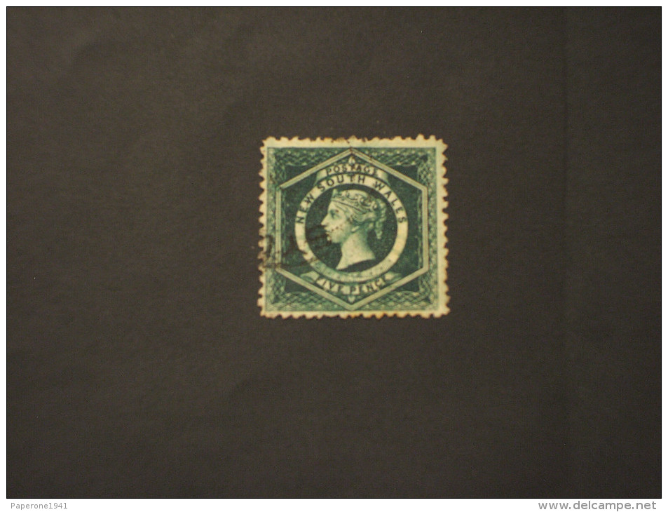 NEW SOUTH WALES - 1860/72 REGINA 5 P. - TIMBRATO/USED - Usati