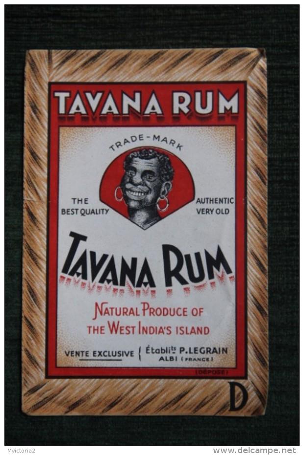 """ETIQUETTE """" TAVANA RHUM """". - Rhum"""
