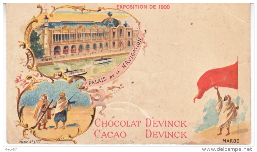 PARIS  EXPO.  AD  CARD  CACAO CHOCOLAT  DEVINCK    Fold  * - 1900 – Paris (Frankreich)
