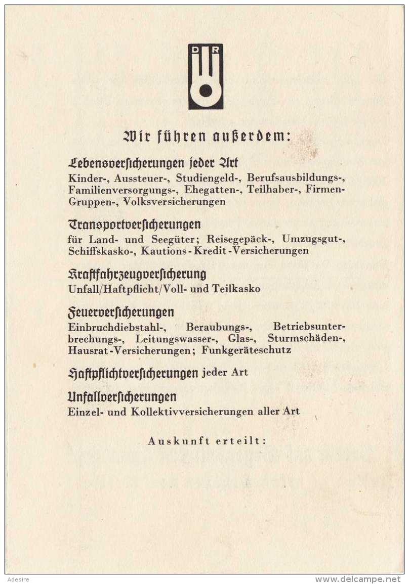 HALLO WIE GEHT'S - Deutscher Ring Krankenversicherung 1940?, Mehrseitige Werbung Mit Antwortkarte - Werbepostkarten