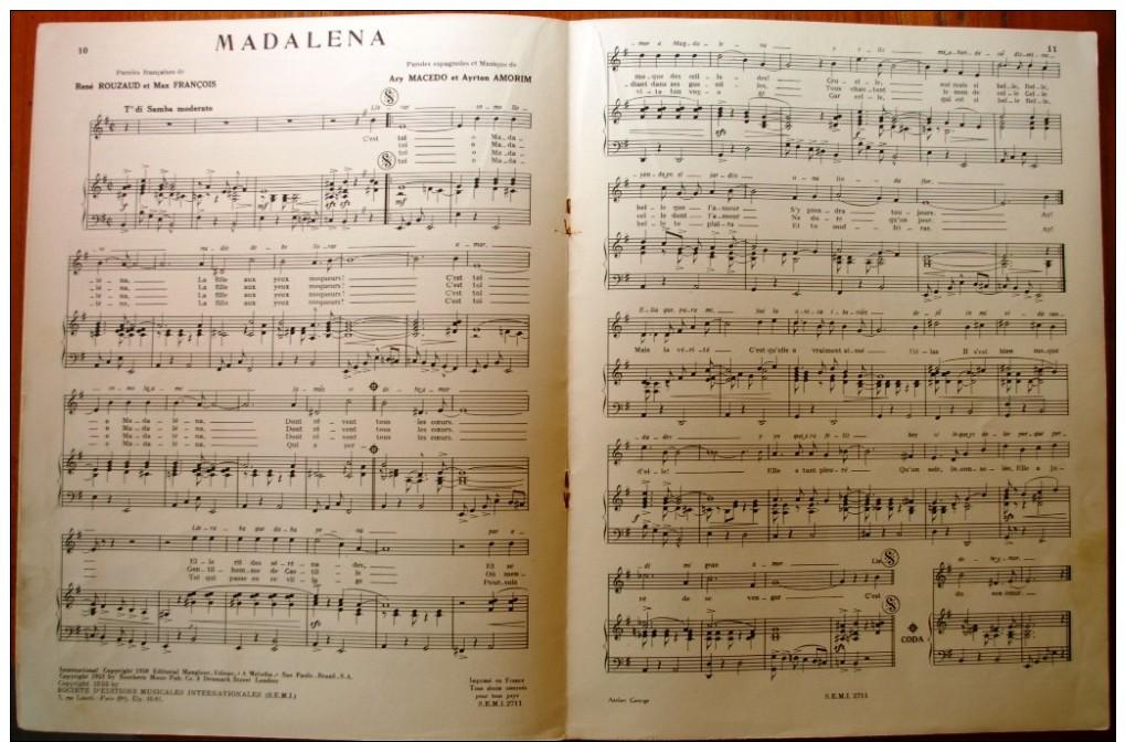 Partition Musicale , 32 X 24.5 , TINO ROSSI , Piano Et Chant 2 éme Album , 21 Pages  , Frais France : 3.95€ - Scores & Partitions