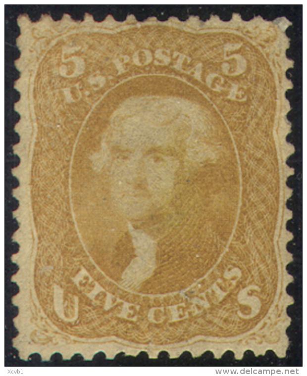 # United States   67, Mint, Disturbed Gun,  Almost 4 Margins, VERY RARE, SCV$27500...    (us067-3.    [16-BGEPR - 1847-99 General Issues