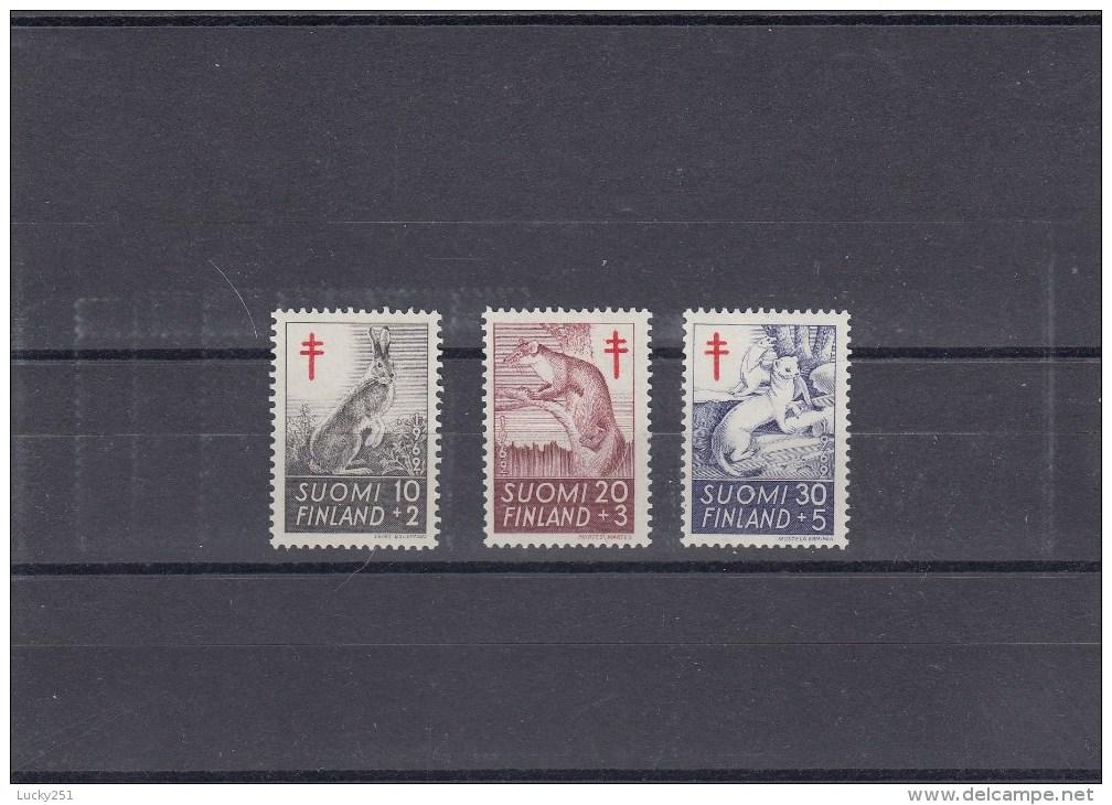 Finlande - Année 1962 - Mammifères - Y.T. 527 à 529 - Neufs** - Finlandia