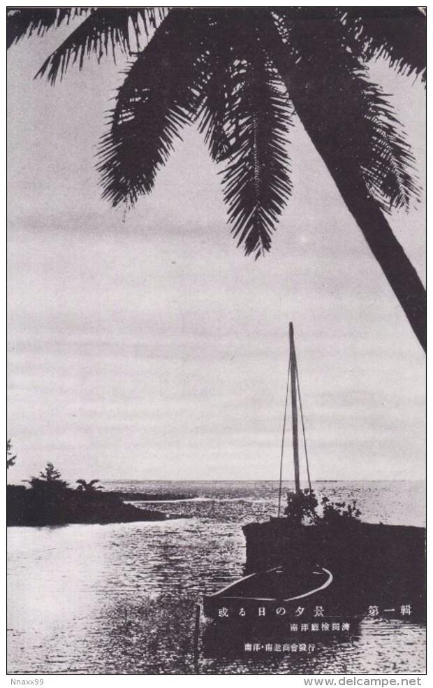 Palau - Scenery Under The Setting Sun, Japan's Vintage Postcard - Palau