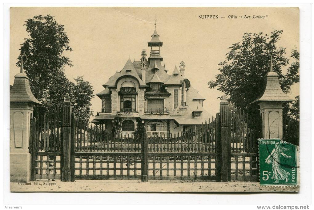 CPA  51   :  SUIPPES    Villa Les Laines           A  VOIR  !!!!!!! - Autres Communes
