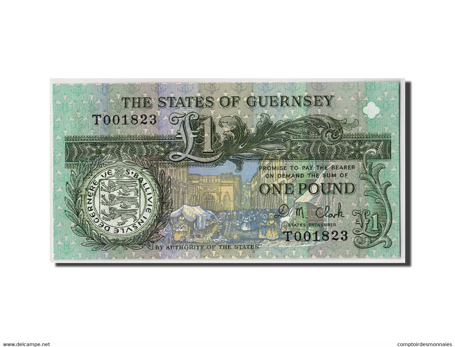 Guernsey, 1 Pound, Non Daté, KM:52c, NEUF - Guernsey