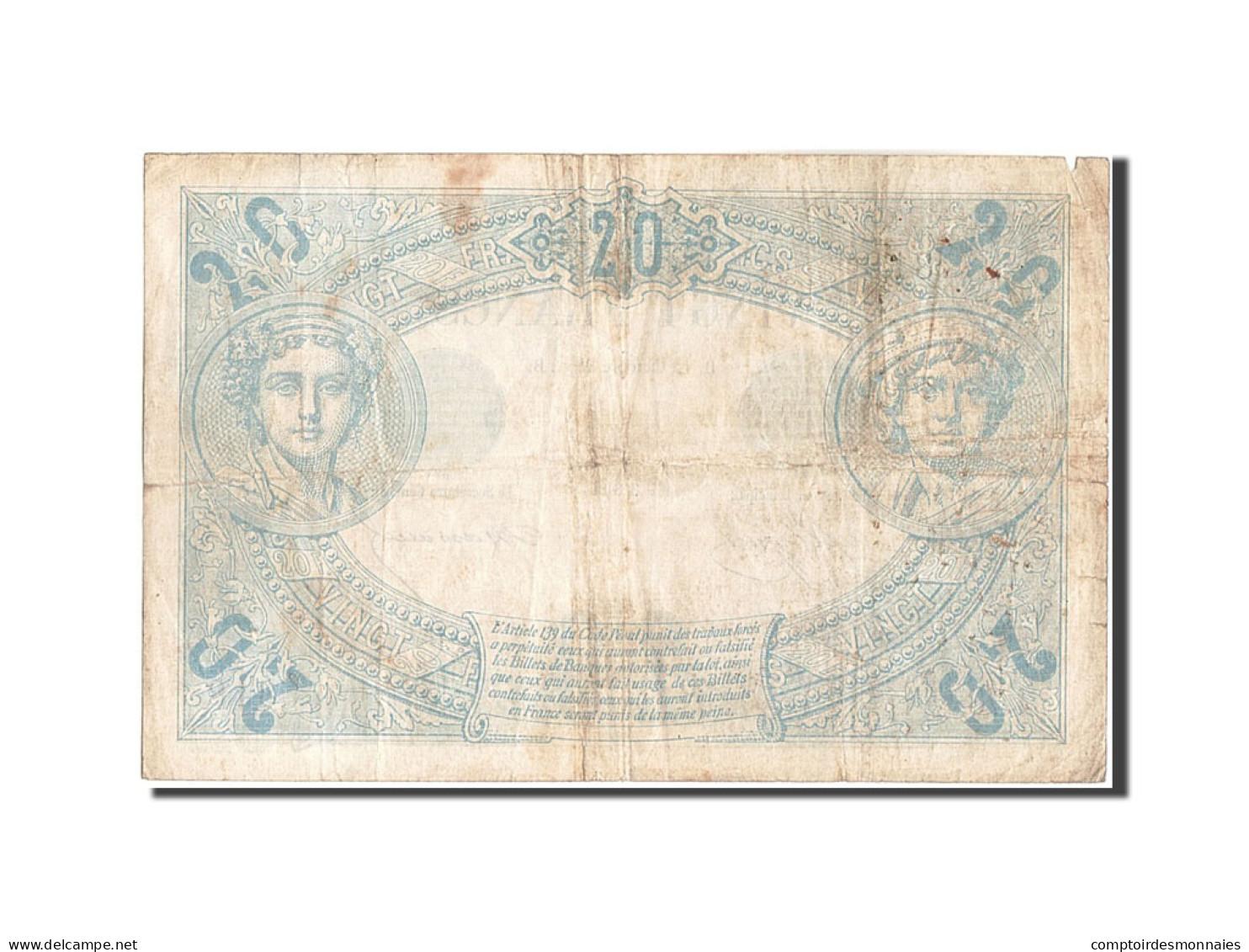 France, 20 Francs, 20 F 1874-1905 ''Noir'', 1874, 1874-10-12, KM:61a, TB, Fay... - 1871-1952 Antichi Franchi Circolanti Nel XX Secolo