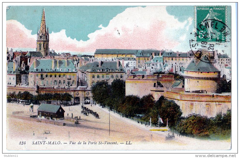 Saint-Malo (Ille-et-Vilaine) La Ville + Les Remparts     LES  2 CARTES - Saint Malo