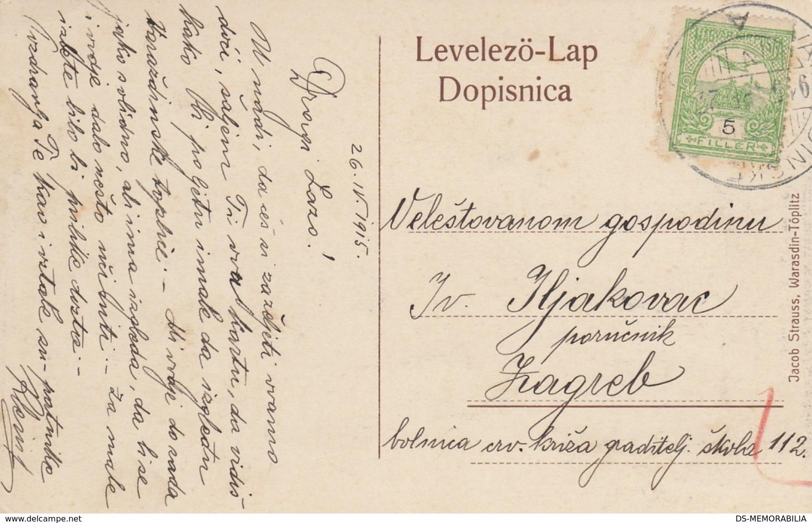 Varazdinske Toplice Varazdin Toplitz Spa Bath 1915 Edition Jacob Strauss - Croatia