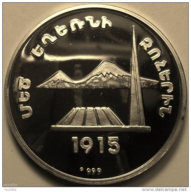 "@Y@   Nagorno-Karabakh Armenia 1000 Dram 2004 Silver Coin.""Monument"" - Nagorno-Karabakh"
