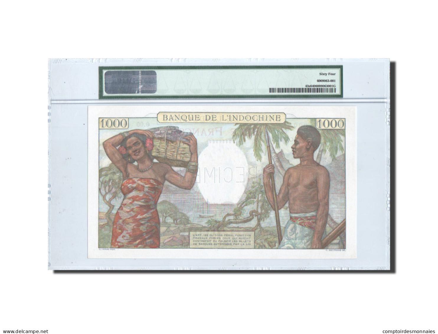Nouvelle-Calédonie, 1000 Francs, 1938, SPECIMEN, PMG Ch UNC 64, KM:43s - Nouméa (New Caledonia 1873-1985)