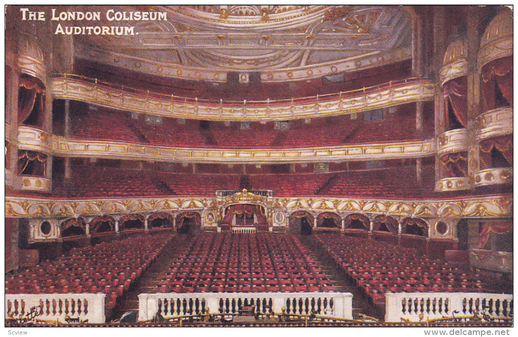 TUCK; LONDON, England, United Kingdom; Coliseum Interior, Auditorium, 00-10s - Guernsey
