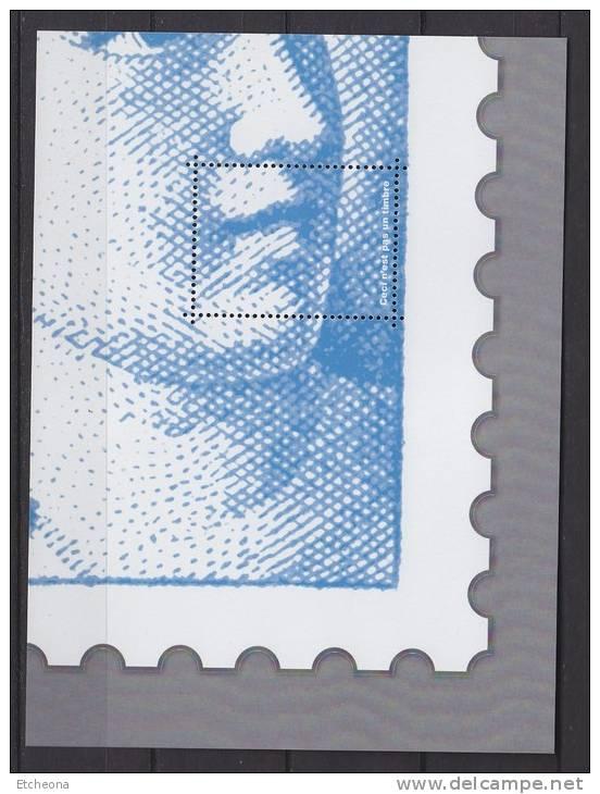 = Bloc Gommé Sabine De Gandon Par Phil@poste Sans Valeur Faciale Représentation 1/4 Sabine Voir Description - Sheetlets