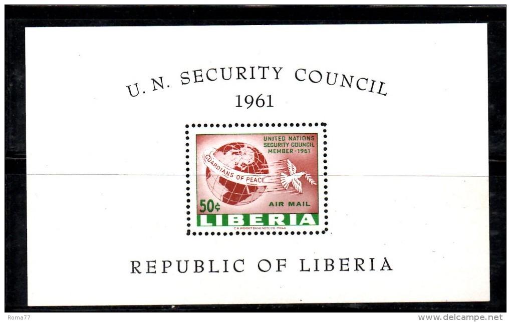 ENR80A - LIBERIA 1961 , Il BF N.  18  ***  MNH  Onu - Liberia