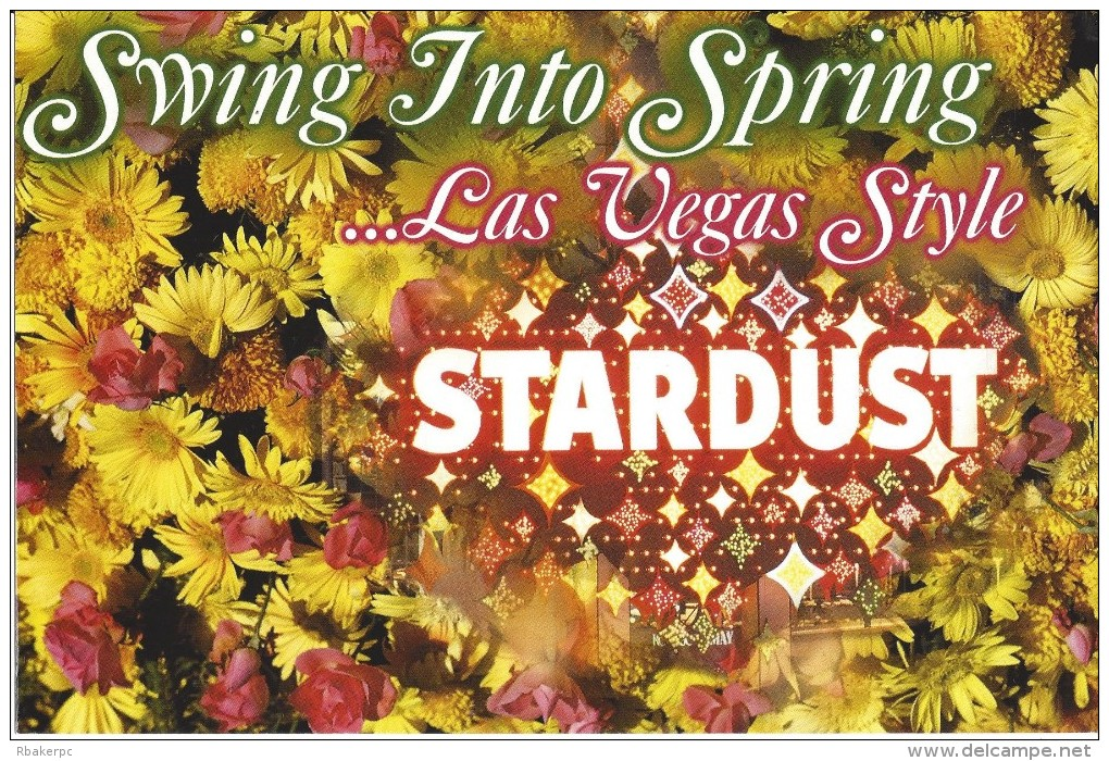 Stardust Casino Las Vegas, NV - Large Advertising Postcard With Special Offers - Casino Cards