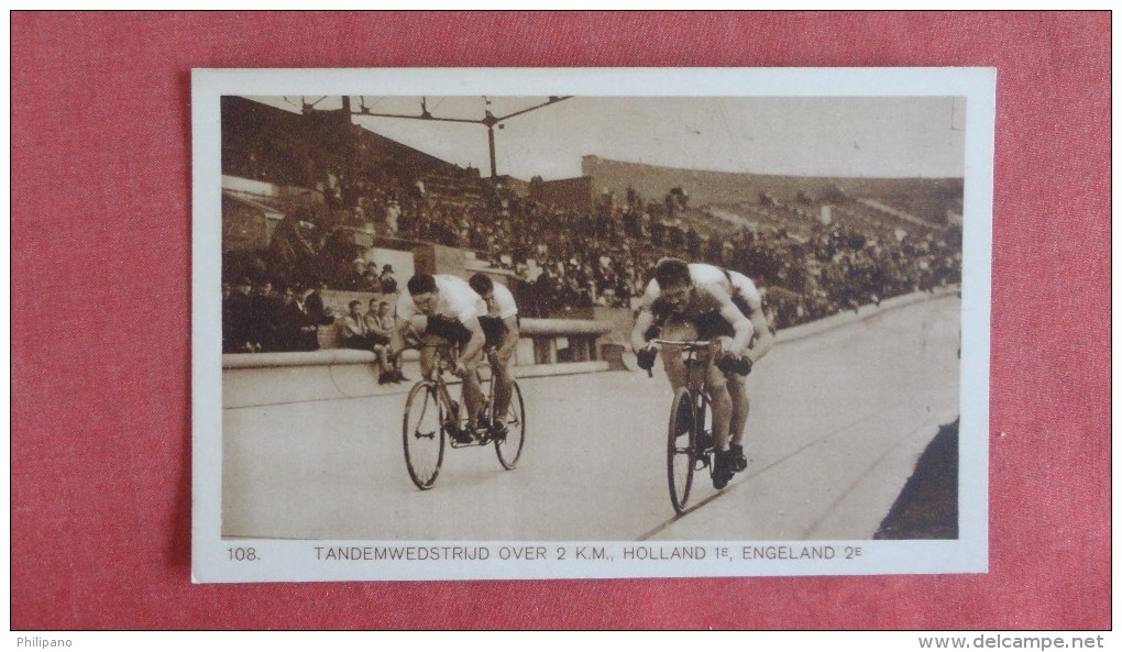 Tandemwedstrijd Over 2 KM Holland 1E Engeland 2 E   Sports > Cycling  Ref  2208 - Cycling
