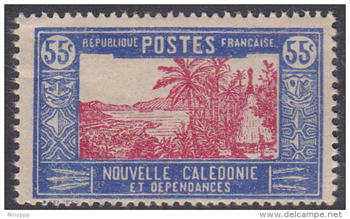 New Caledonia SG 152 1928 Definitives  55c Red And Blue MNH - New Caledonia