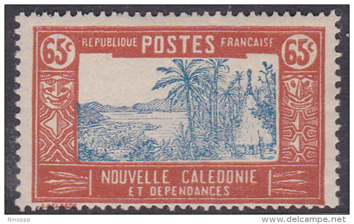 New Caledonia SG 154 1928 Definitives  65c Blue And Brown MNH - New Caledonia