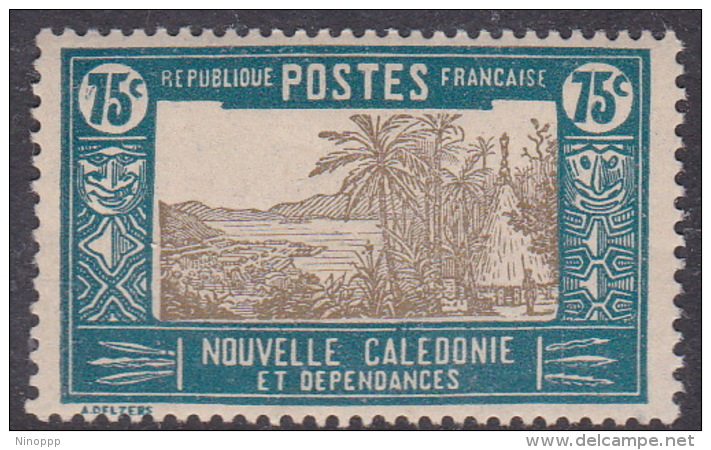 New Caledonia SG 156 1928 Definitives  75c Drab And Blue MNH - New Caledonia