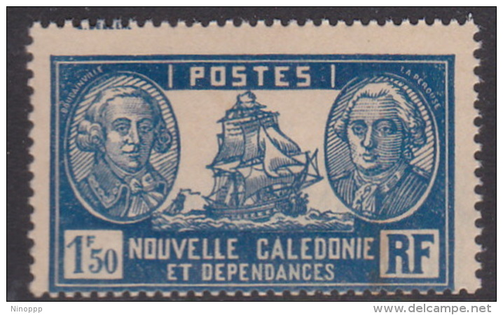 New Caledonia SG 168 1928 Definitives 1 F 50c Light Blue And Blue MNH - New Caledonia