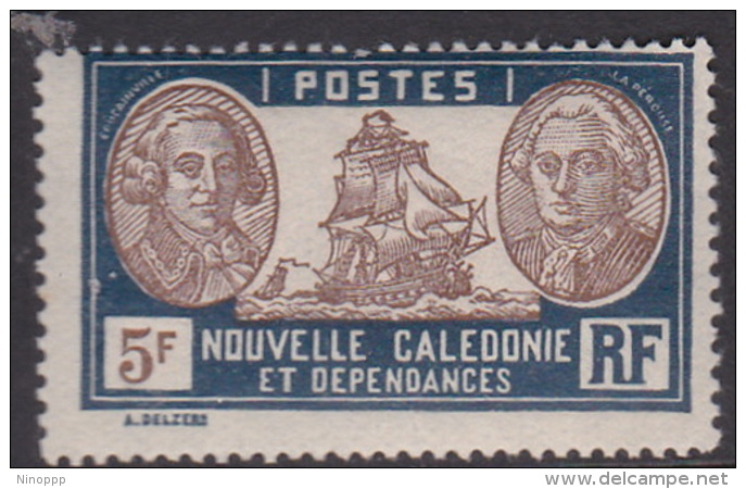 New Caledonia SG 176 1928 Definitives 5F Brown And Blue MNH - New Caledonia