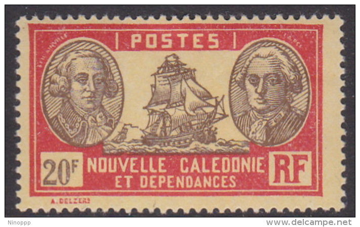 New Caledonia SG 178 1928 Definitives  20 F Brown And Red On Yellow MNH - New Caledonia