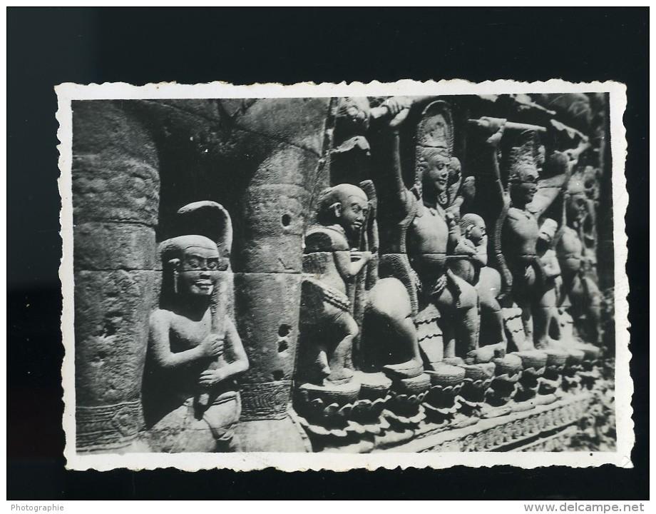 Cambodge Angkor Vat Wat Site Archeologique Ancienne Photo Amateur Snapshot 1934 - Places
