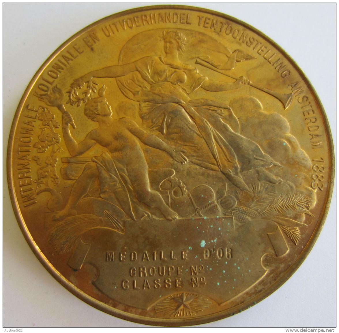 M05124  WILLEM III KONING DER NEDERLANDEN HOOGE BESCHERMHEER VAN DE TENTOONSTELLING - 1883 (136g) Allégories Au Revers - Royaux/De Noblesse