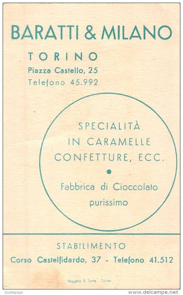 """04260 """"BARATTI & MILANO - TORINO - FABBRICA DI CIOCCOLATO PURISSIMO"""" BAMBINO, FIORI. PUBBLICITARIO - Cioccolato"""