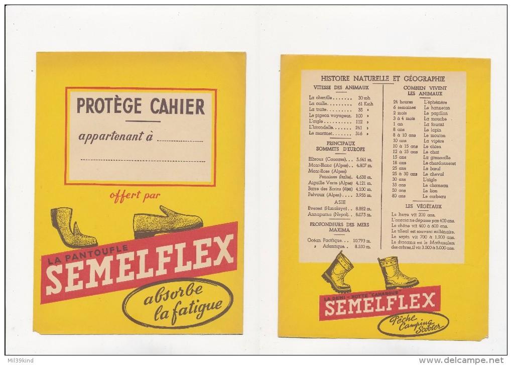 Publicite - Protege-Cahiers - SEMELFLEX - Buvards, Protège-cahiers Illustrés