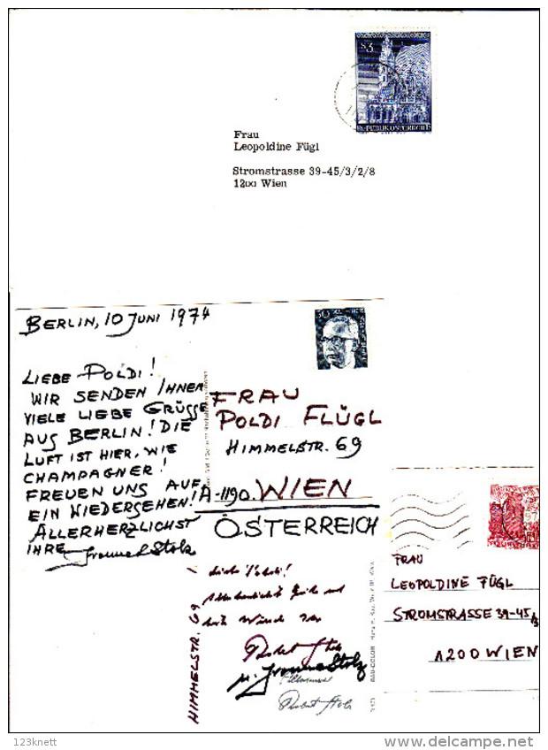 Privater Briefverkehr Des ROBERT STOLZ + Ehrenplakette - Andere Sammlungen