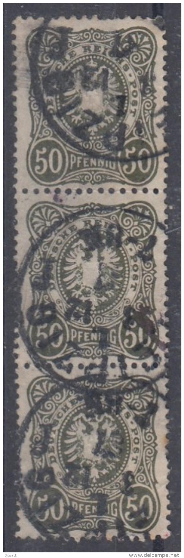 DR Minr.44 Senkrechter 3er Streifen Gestempelt - Deutschland