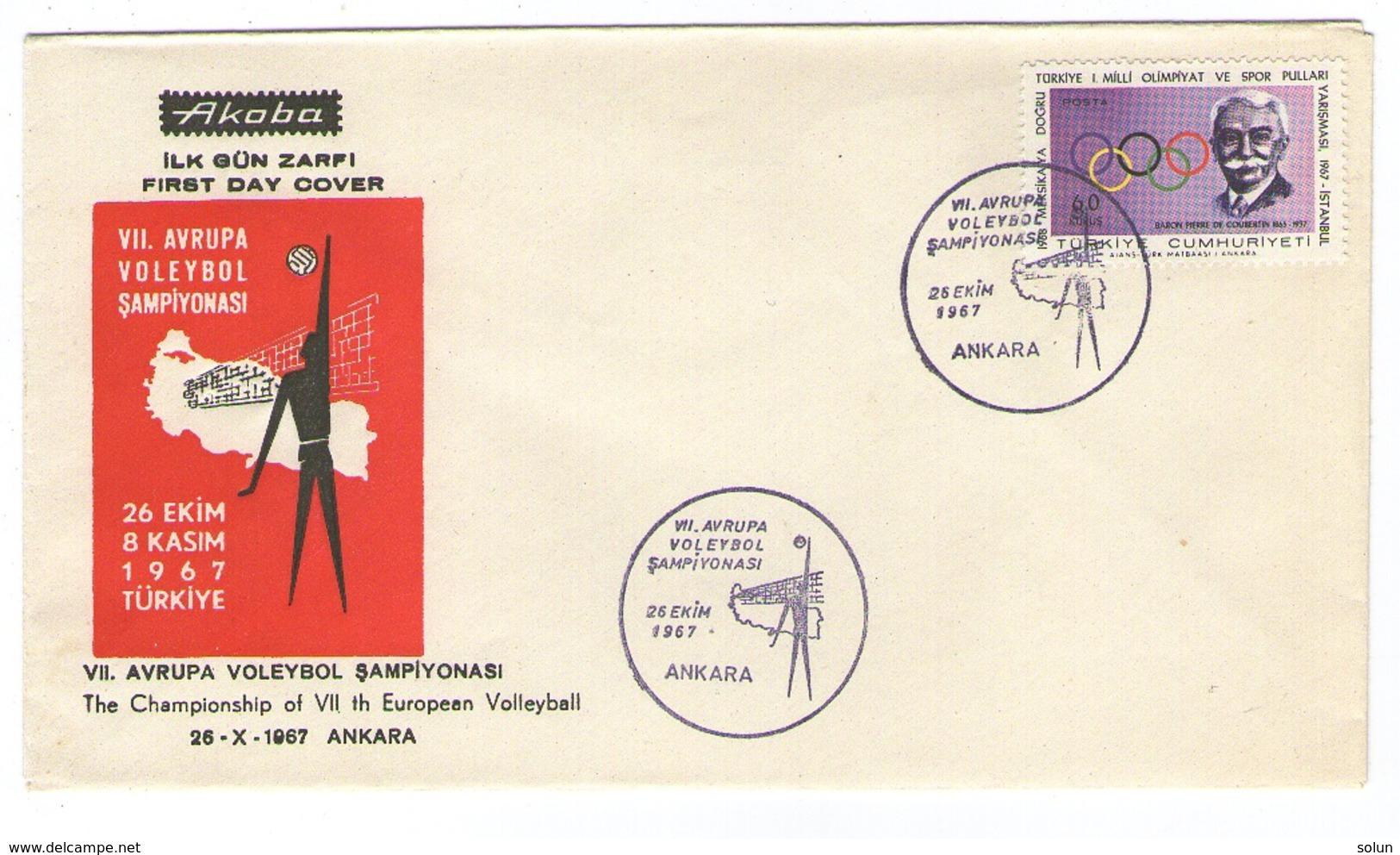 TURKEY EUROPEAN CHAMPIONSHIP VOLLEYBALL VOLEYBOL ANKARA 1967 SPORT - Cartas