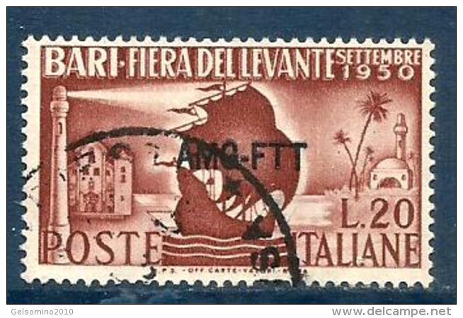 1950 BARI  Trieste A  Serie Completa Usata - 7. Triest
