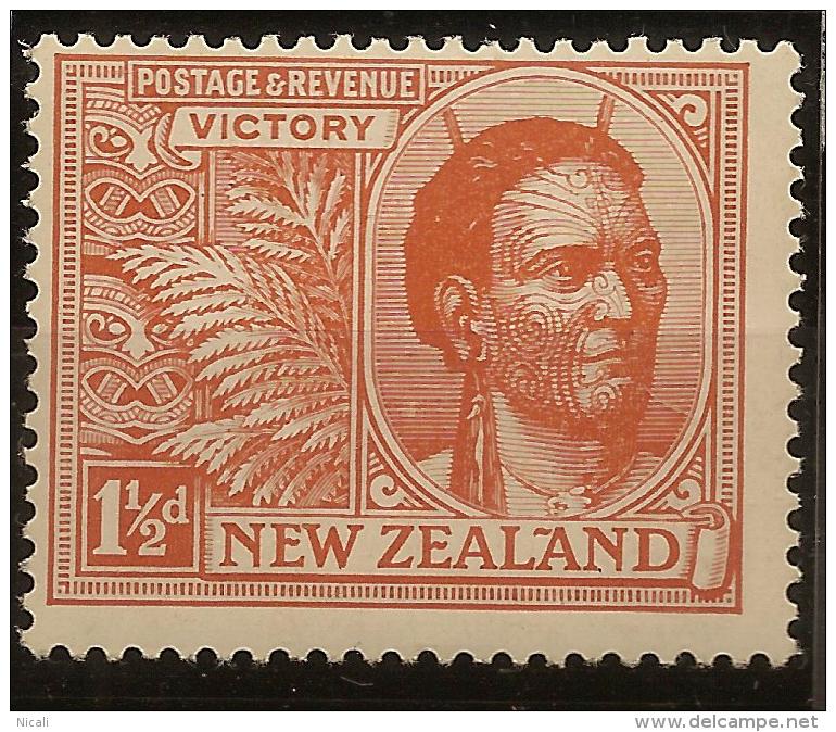 NZ 1920 1 1/2d Victory SG 455 HM #UD33 - Unused Stamps